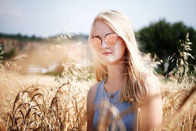 Zonnebril met spiegeleffect